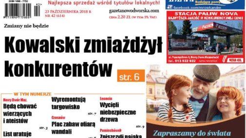 Nr 42 Gazety Nowodworskiej już w sprzedaży