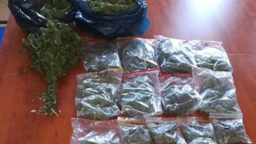 Dwa kilo marihuany trzymał w domu