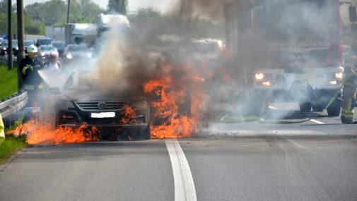 Zapalił się w drodze