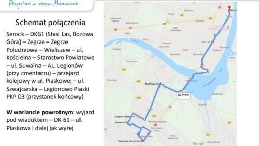 Nowa linia połączy Serock, Zegrze, Wieliszew i Legionowo