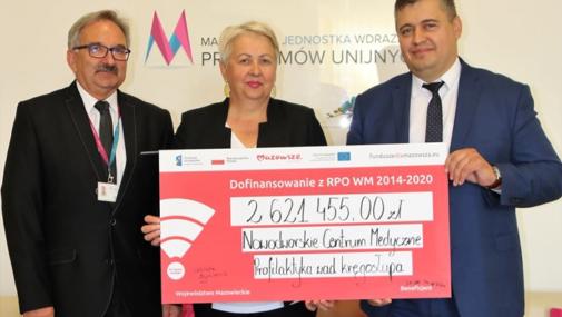 Ponad dwa i pół miliona zł dla szpitala