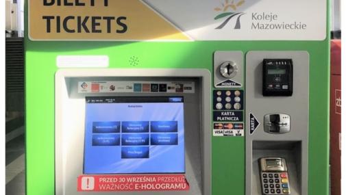 Nowe biletomaty Kolei Mazowieckich