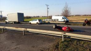 Powiat: Dwa zdarzenia z udziałem motocyklistów