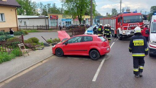 Leoncin: Jazdę zakończył na ogrodzeniu
