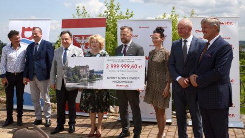 Nowy Dwór Maz. Podpisanie umów na rozbudowę szpitala i zagospodarowanie brzegów Narwi