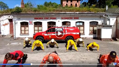 Nowy Dwór Maz.: Strażacy z OSP-RW wzięli udział w #GaszynChallenge [VIDEO]