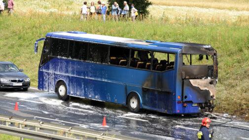 Zakroczym: W czasie jazdy zapłonął autobus