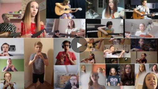 """Nowy Dwór Maz.: Uczniowie nagrali wyjątkową """"Stokrotkę"""" [VIDEO]"""